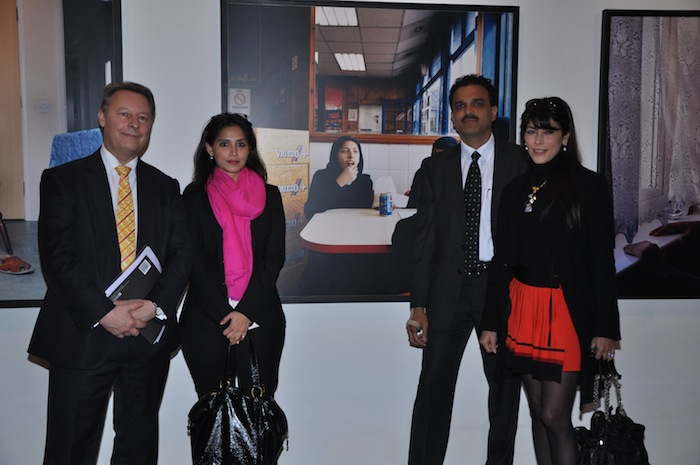Rob Lynes, Director, British Council India, with partners from Christie's, Kotak Mahindra Bank Limited, and Outset India