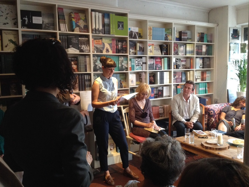 Reading at Lilliput Press with Rosita Sweetman (right), Gary Jermyn (far right).