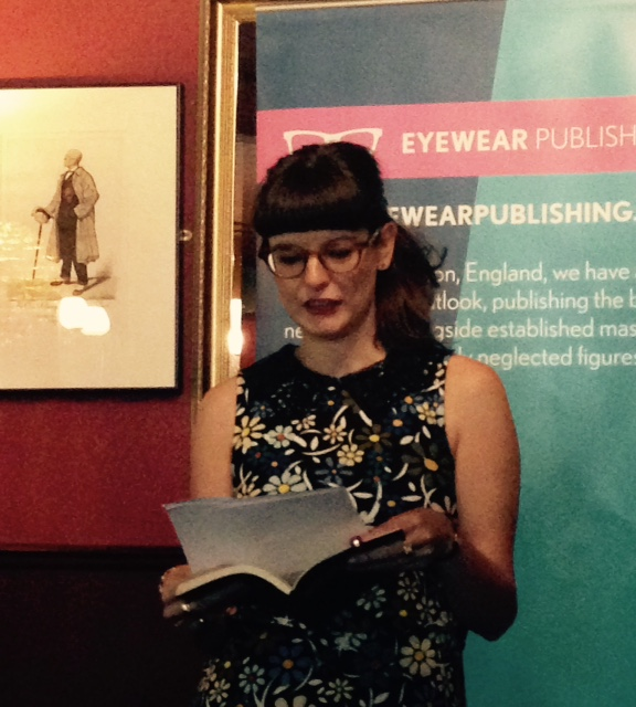 Reading at the Eyewear 20/20 Summer Pamphlet Launch, London, July 2015