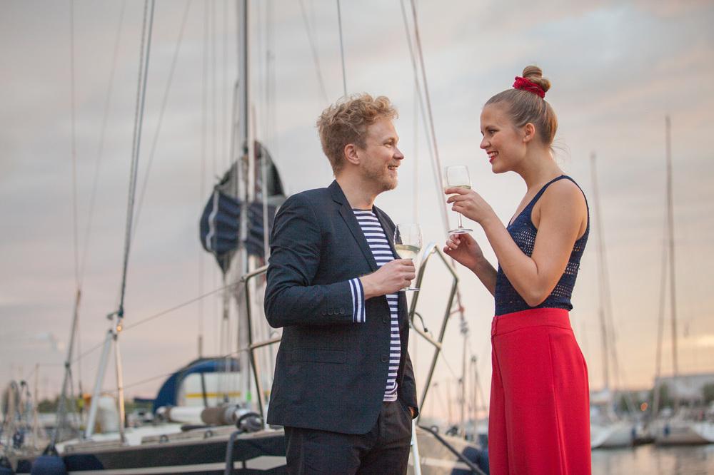 sailor couple lifestyle ad