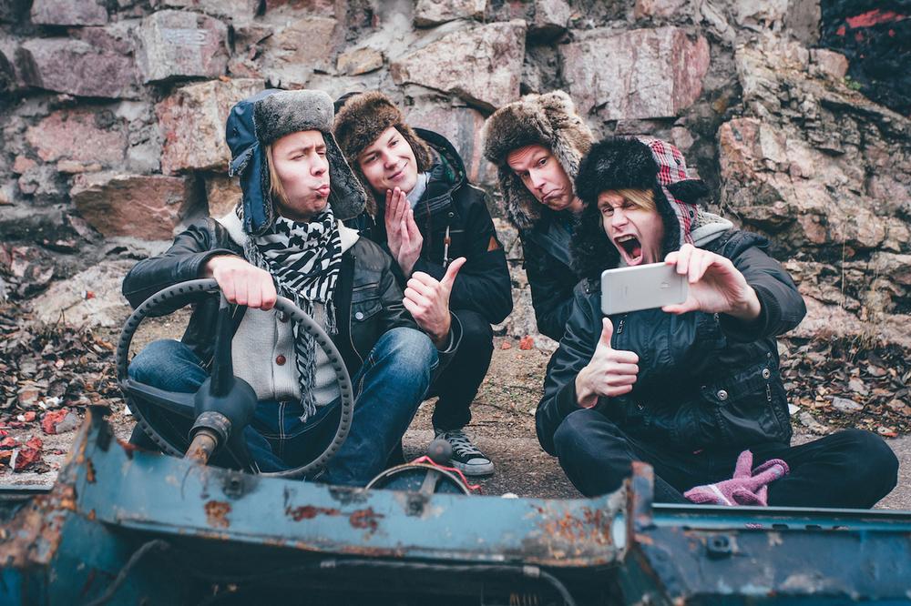 unique fun band photo promotional portrait