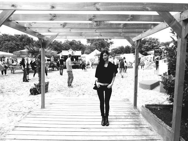 27. Juni 2015: Eingang von Beach food fest