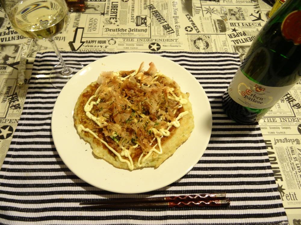 26.Sep 2015 : Okonomiyaki mit weißem Wein