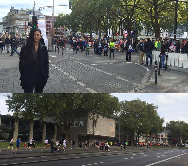 04.Okt 2015 : Marathonläufer in der Stadt