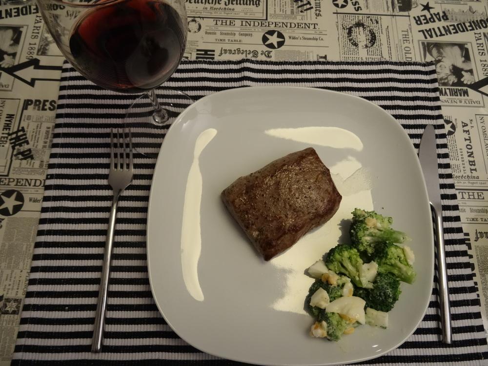 24.Okt 2015 : ein Lammsteak mit rotem Wein