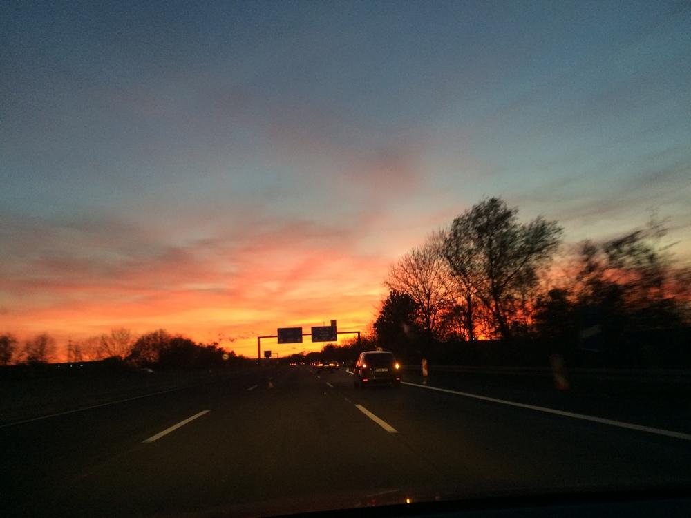 8.Nov 2015 : Schöner Sonnenuntergang