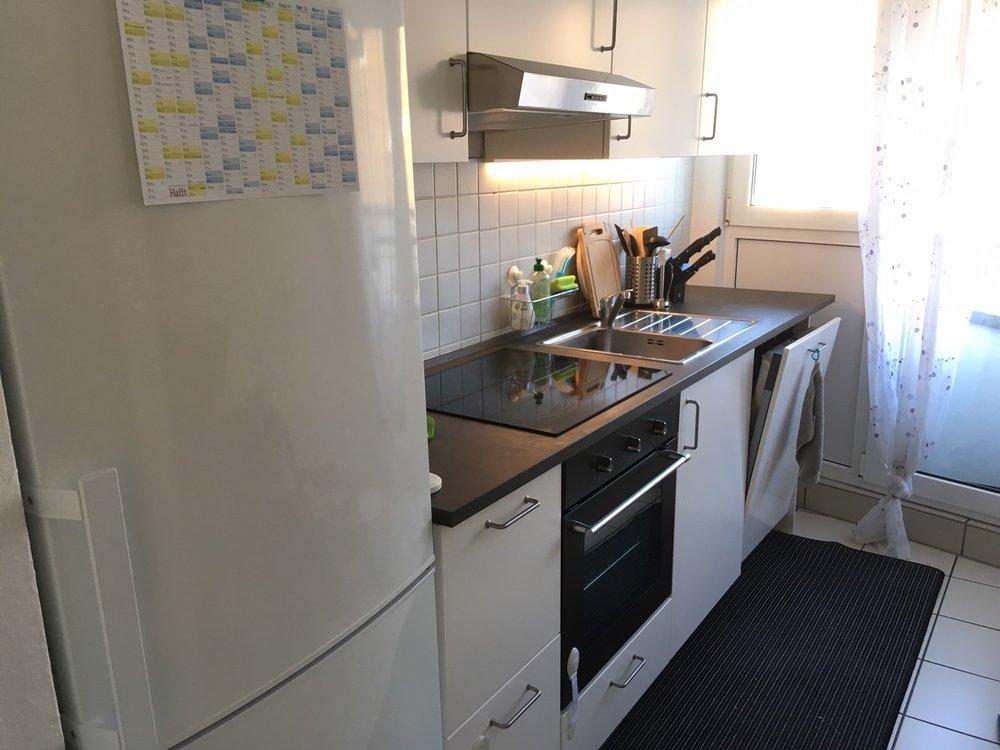 自分たちで選んで作った台所。素敵になりました。Unsere neue Küche.