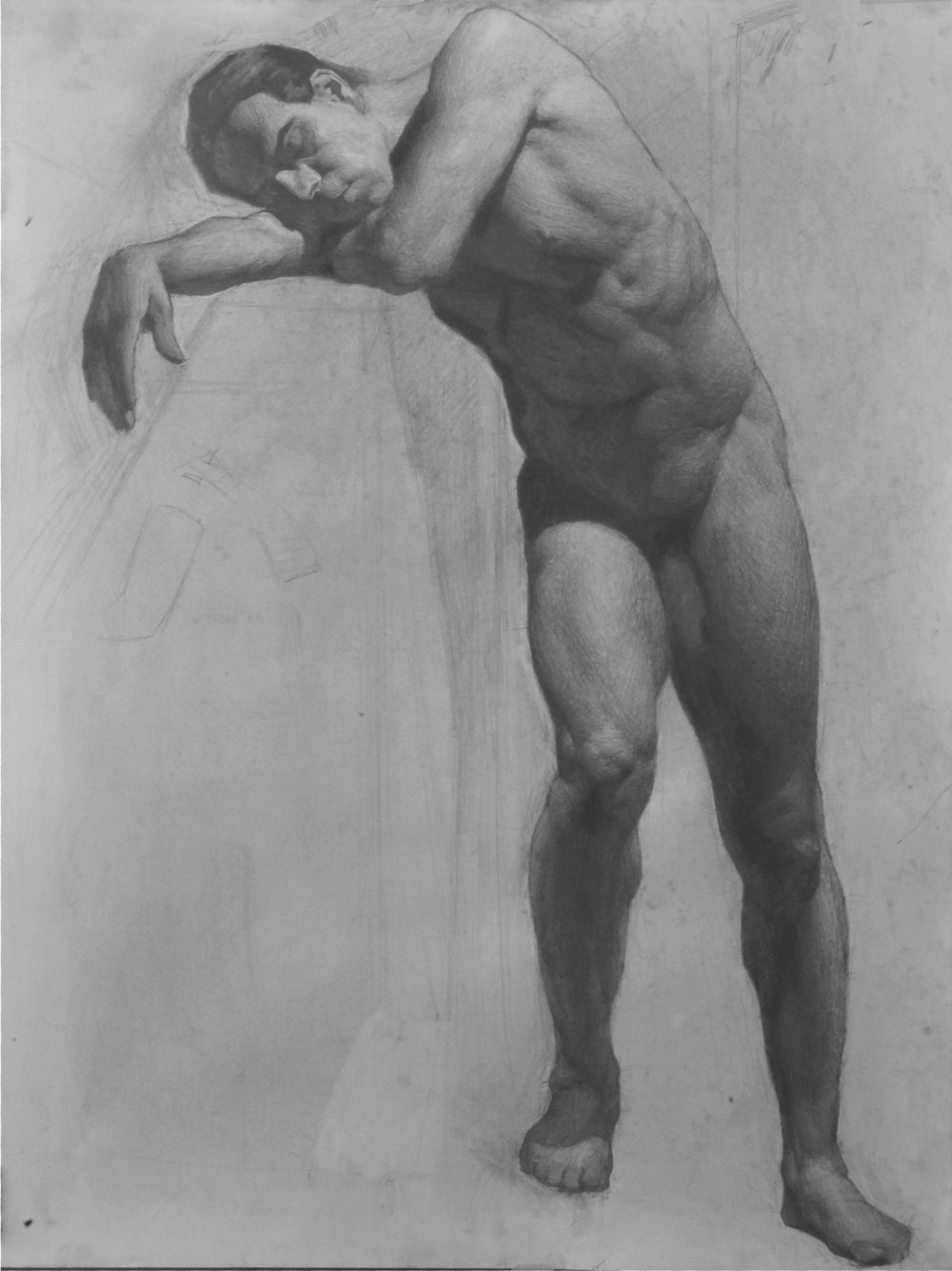 figure study graphite on paper 18by 24 (2011).JPG