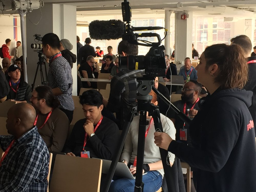 Filming an event with multiple cameras