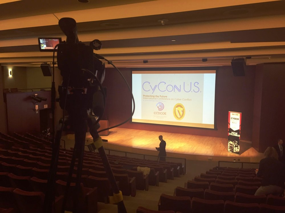 Filming a conference - NYC