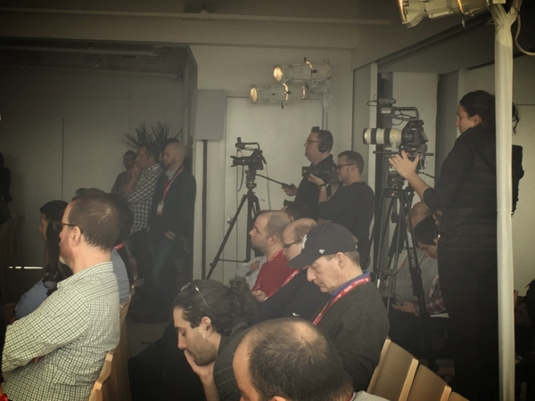 A total of 5 cameras captured the action on stage, in the room, and around the event during the day.
