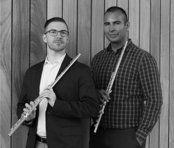 """The Etesian Duo, flutists Alan Berquist and Arturo Rodriguez, will be joined by cellist Erik Urbina, pianist Pal Caccamo and Michael Steadman on harp in a concert at the Piedmont Center for the Arts this Saturday, July 23 at 1 p.m. Tickets are available at the door. The Etesian Duo was formed in 2015 to explore the large varieties of music written for two flutes. The dominant weather influences in the Mediterranean Sea, the Etesians (derived from the Greek word for """"year""""), are legendary winds that have occurred since ancient times every May to September. The highly unpredictable force of these summer winds creates an exciting drama that the duo conveys through music. Berquist and Rodriguez will be performing at the 2016 National Flute Association Convention in San Diego in August. Alan Berquist, flute A native of Antioch, Alan Berquist earned his Bachelors in Music from Florida State University, a Masters in Music from the University of Wisconsin, and a post-graduate Certificate in Advanced Flute Studies from Carnegie Mellon University. His primary teachers have included master classes by former principal of the New York Philharmonic Jeanne Baxtresser. He has competed in the prestigious Fischoff National Chamber Music Competition and Plowman Chamber Music Competition. He was Associate Program Chair for the 2004 National Flute Association Convention and performer at the 2009 convention. He has performed in concerts and conventions across the globe. He worked in New York City for nine years as a staff member for American Ballet Theatre, Second Flute of the Astoria Symphony, and Principal Flute of the Brooklyn Wind Symphony. He is currently a member of the Oakland-based Awesöme Orchestra Collective. He also performs on piano.  Arturo Rodriguez, flute Aside from being accomplished as a flutist, San Francisco musician Arturo Rodriguez also plays the cello, piano and oboe. He attended the Conservatory of Music at the University of the Pacific, where he received his Bache"""