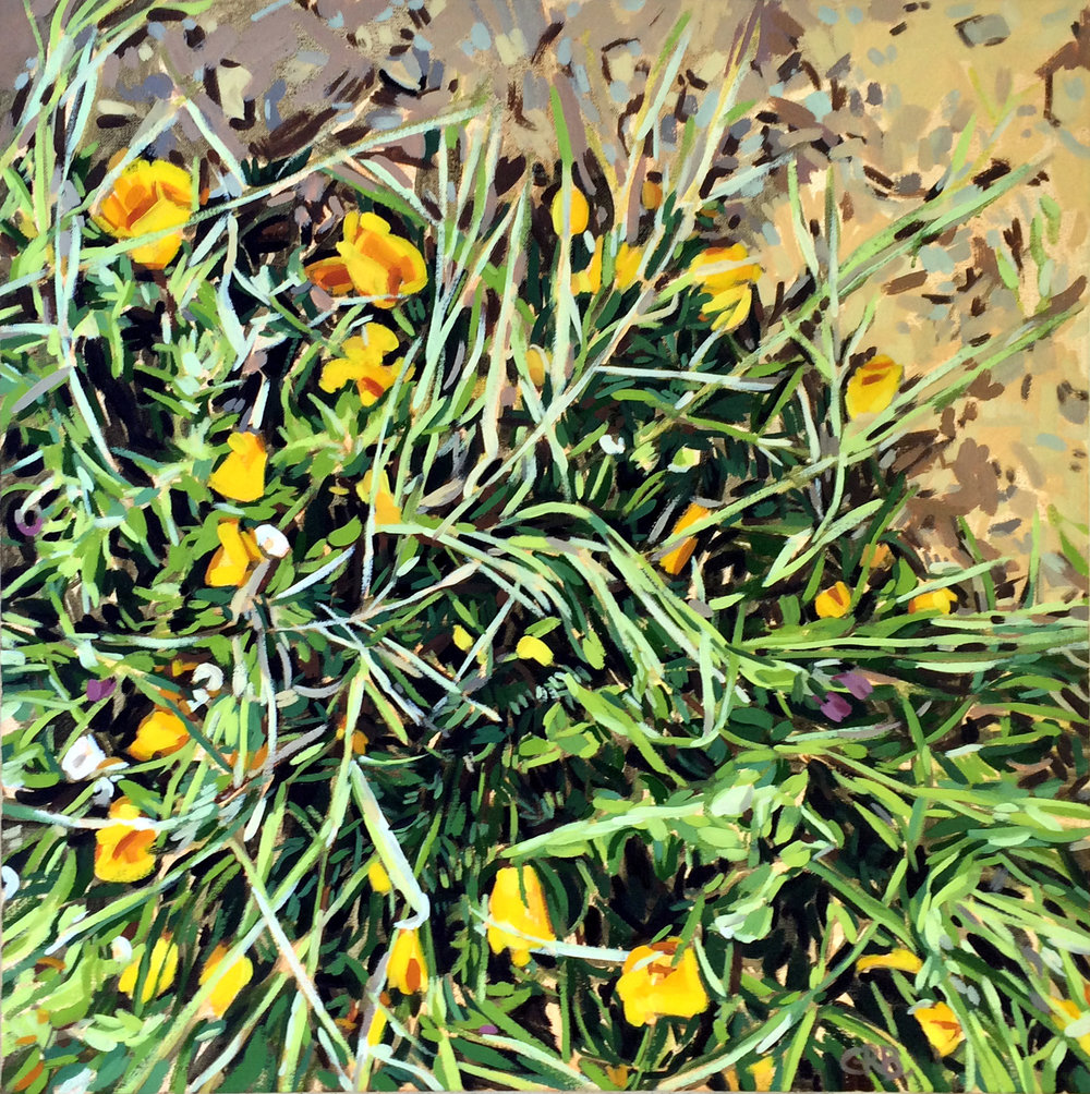 "Genevieve Busby ""Pathways Grass with Poppies"""