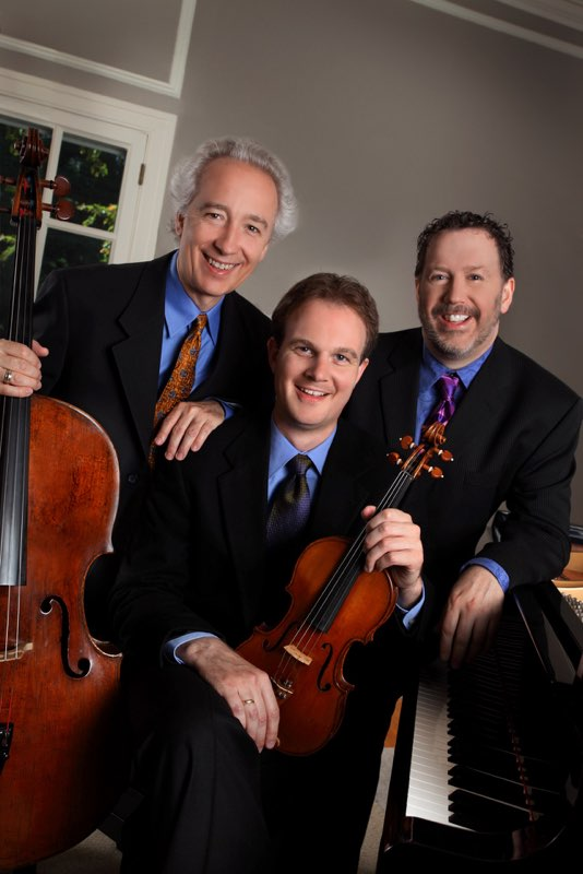 The San Francisco Piano Trio – Axel Strauss, violin, Jean-Michel Fonteneau, cello, and Jeffrey Sykes, piano