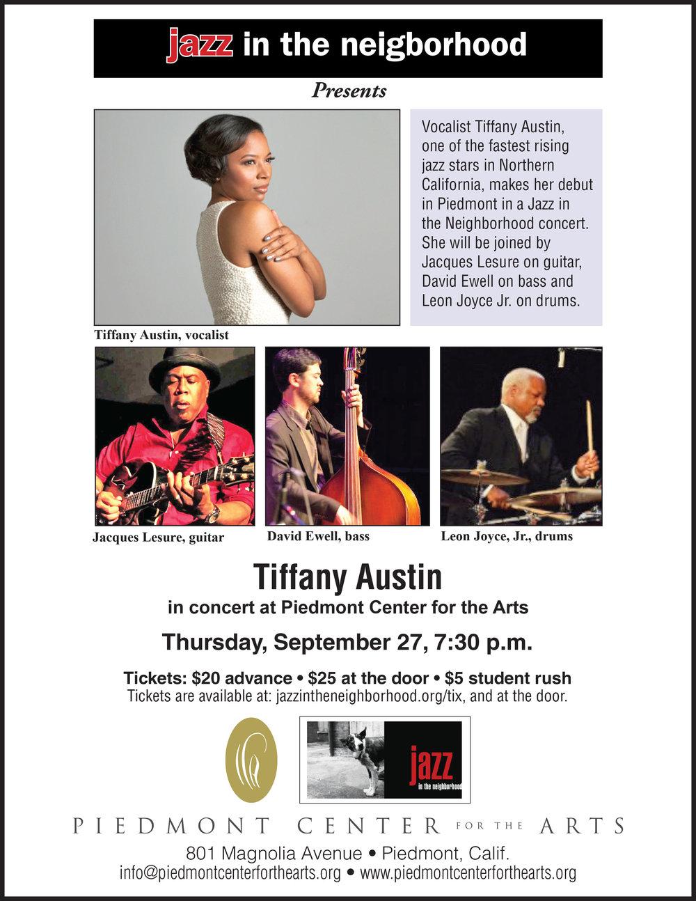 Jazz in the Neighborhood Opens it's Fourth Season on Sept. 27