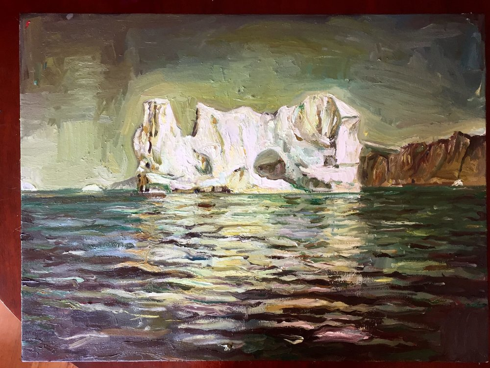 "The Sea Around Us  ,  Oil on Canvas, 18x24"""