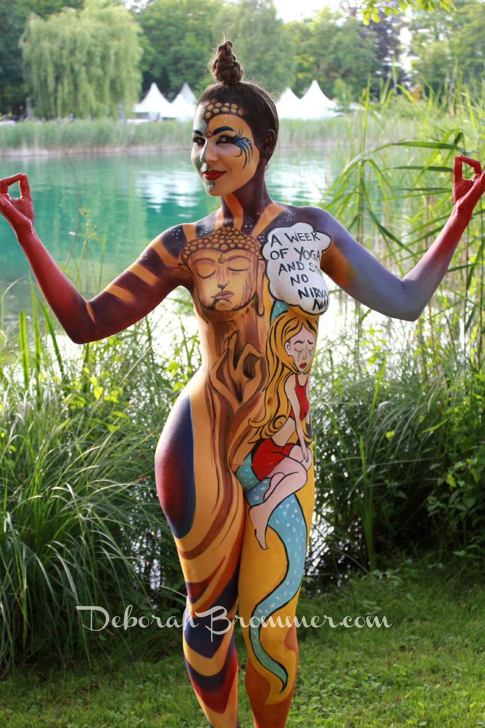 Women body paint nude