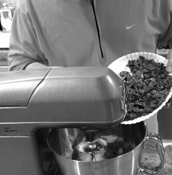 Shawn Askinosie making a late-night batch of cookies with single-origin chocolate. Image courtesy Shawn Askinosie.