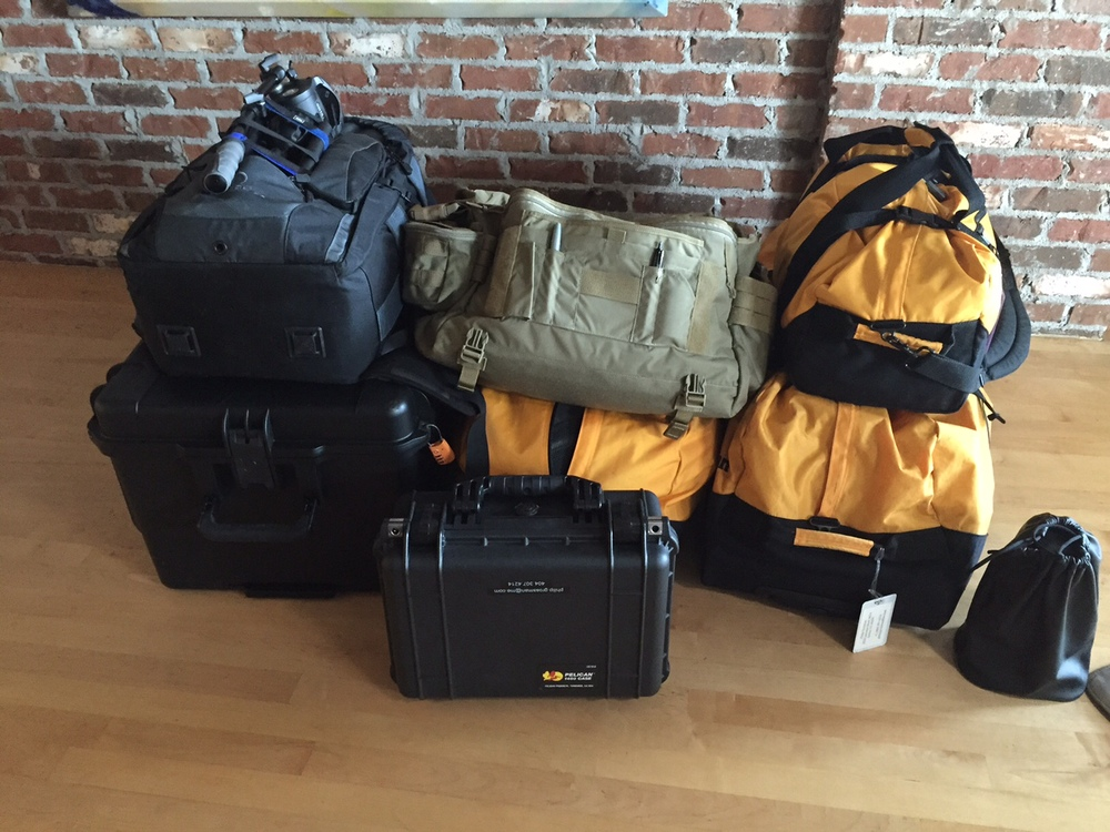 257 lbs of gear heading to Chernobyl