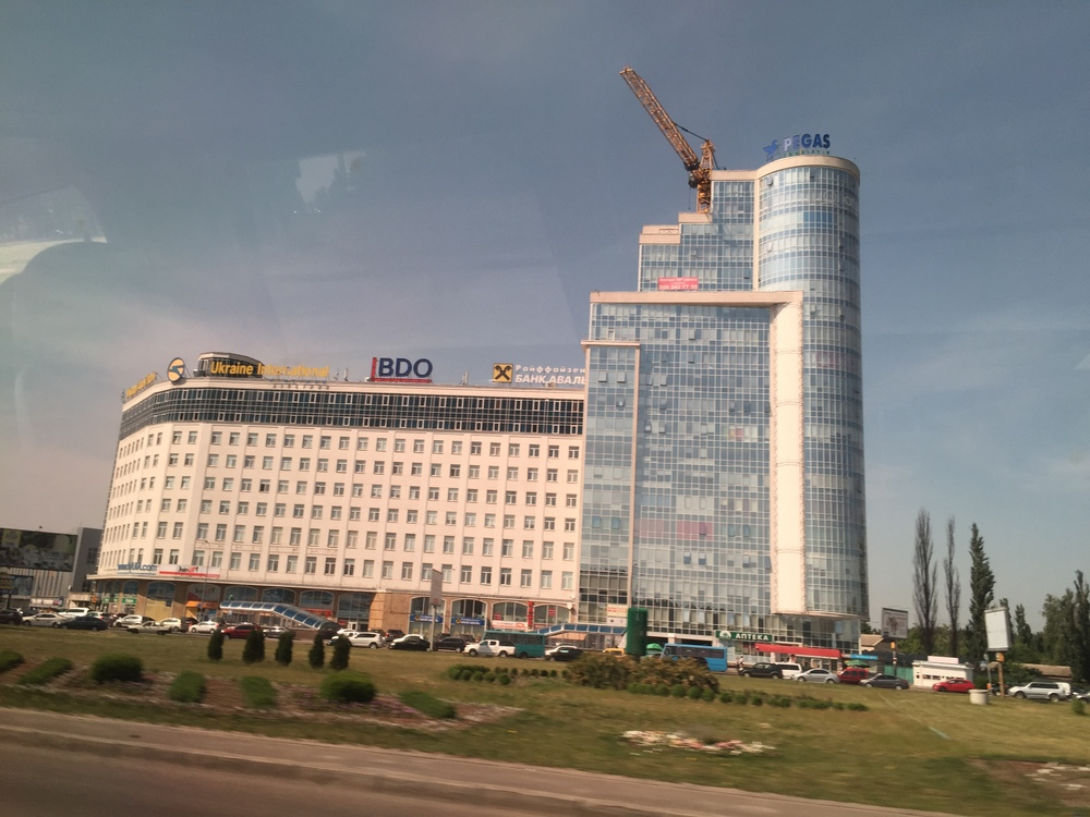 Lots of construction in Kiev