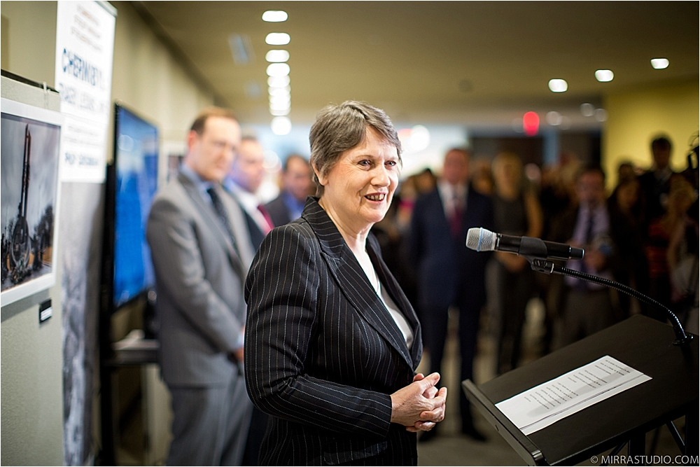 Helen Clark, Former Prime Minister of New Zealand making opening remarks.