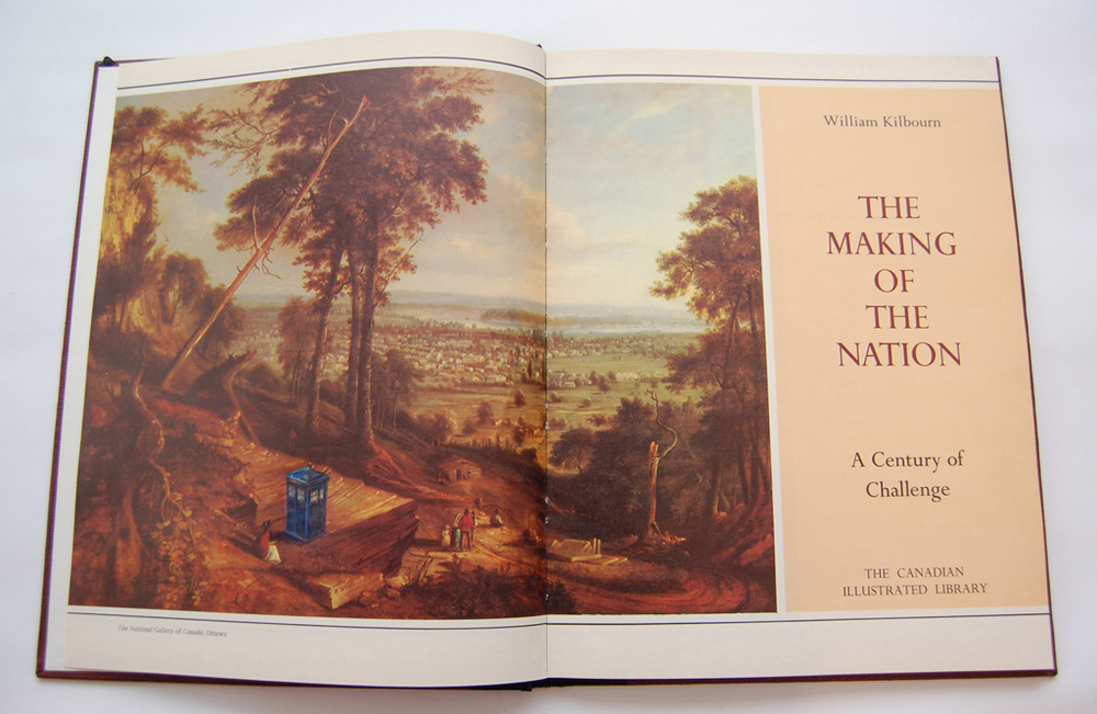 The Making of the Nation , 2007. Watercolour pencil drawing on found book.
