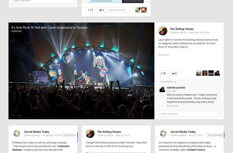 larger images on Google+