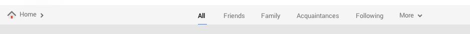 Google+ responsive navigation