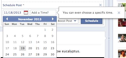 social media news facebook scheduling