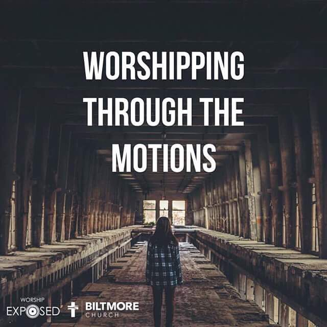 """""""I believe that it is so easy to fall into a pattern of """"worship"""" or simply go with the Sunday flow."""" Click on the link in our bio to read the full post."""