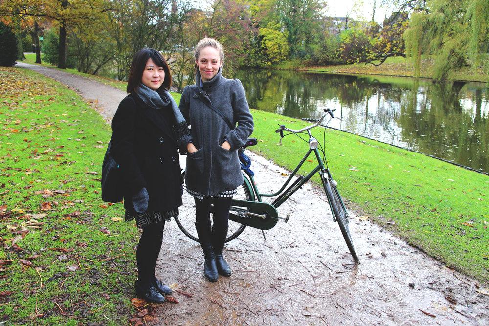 Azusa & Kelsey with Bike