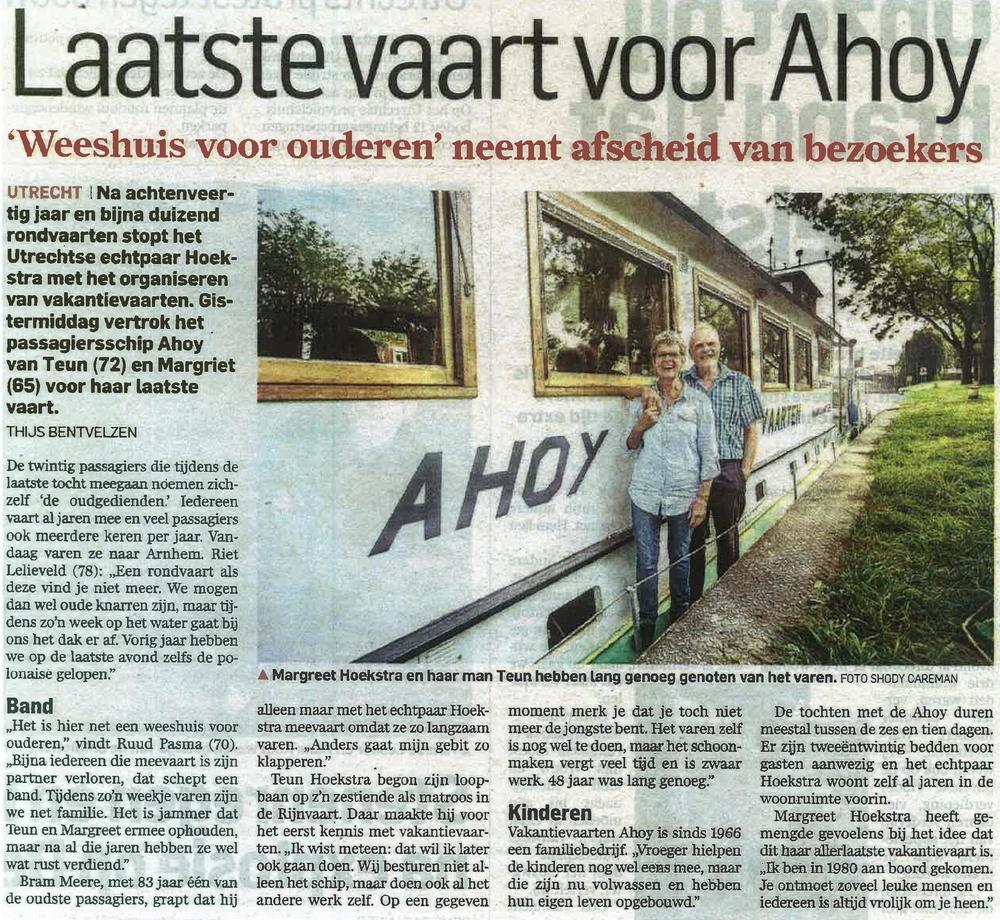 AD Utrechts nieuwsblad september 2014
