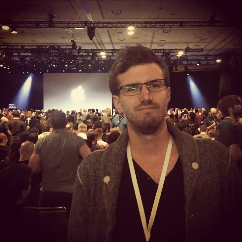At the Keynote on Monday.
