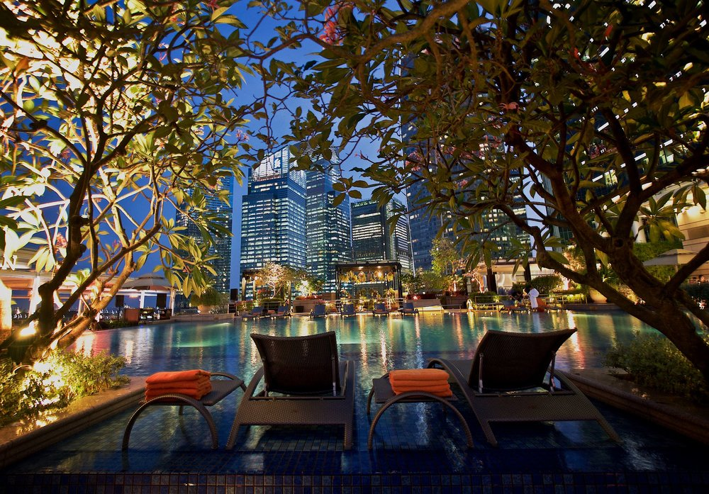 Fullerton Bay Poolside