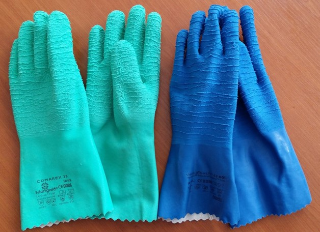 Examples of chemical specific gloves.