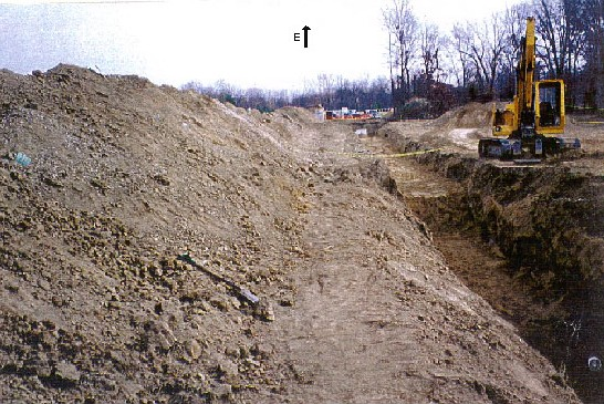 Sewer installation project, the trench was approximately 200 feet long.