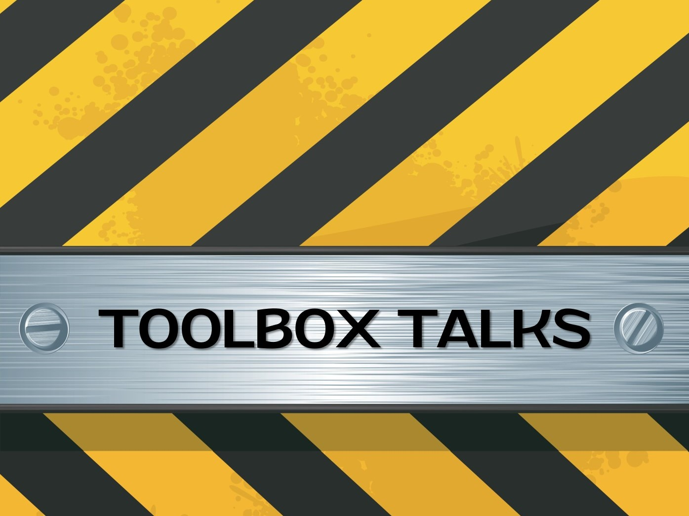 toolbox talks free pdf