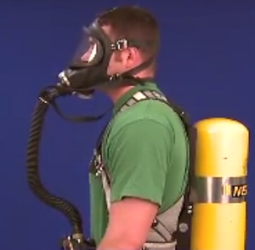 This respirator provides clean air.