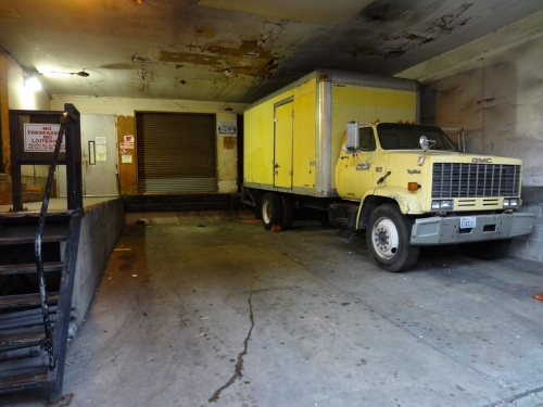 If delivery trucks, like this one, stay idle for periods of time or there are constant pick-ups and drop-offs at the loading dock, CO build-up could be a hazard especially if there is not adequate ventilation.