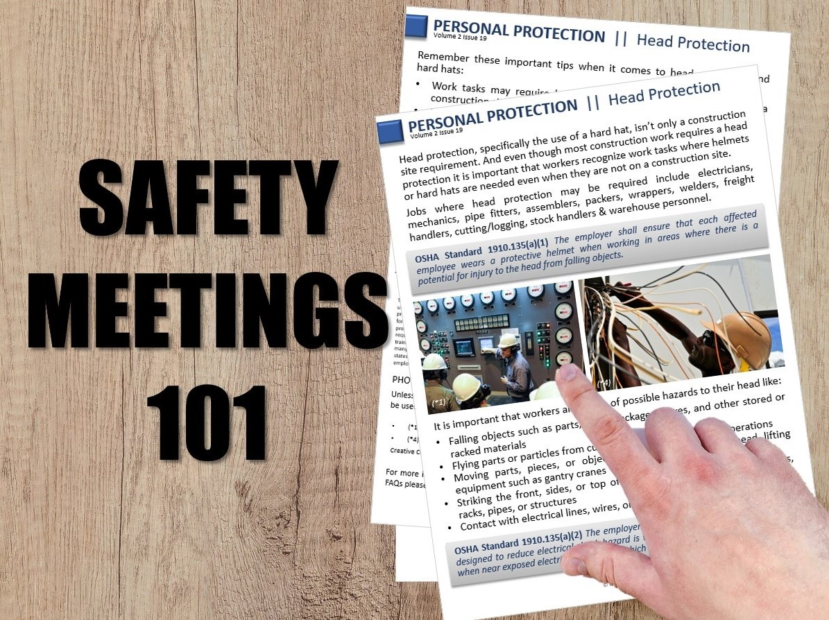 Safety Meetings 101 — Weeklysafety com