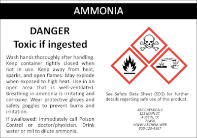 Sample OSHA & GHS Label