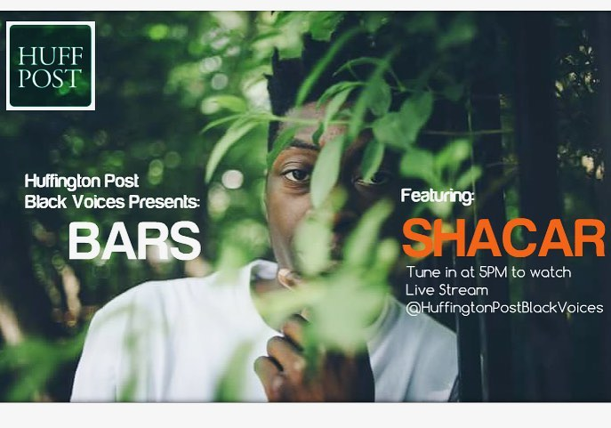 Catch Shacar on Huffington Post-Black Voices live stream at 5PM. You dont want to miss these BARS #September 23rd