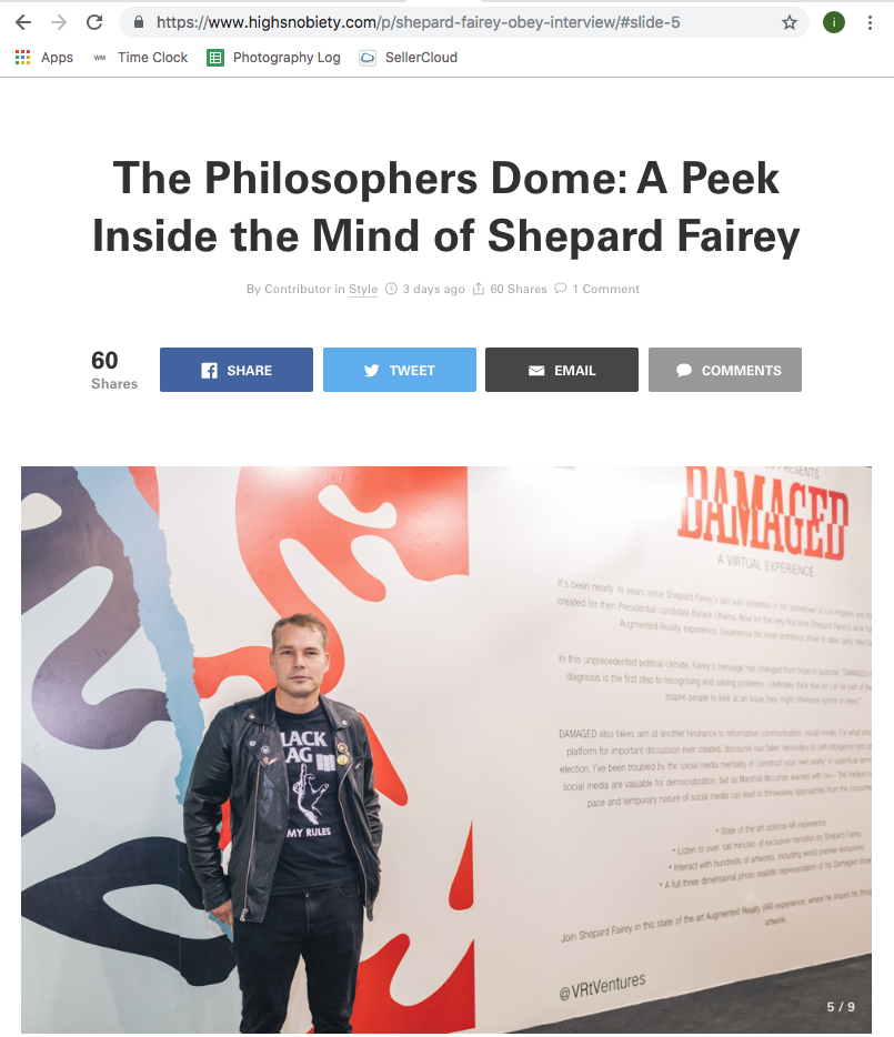 Shepard Fairy for Highsnob