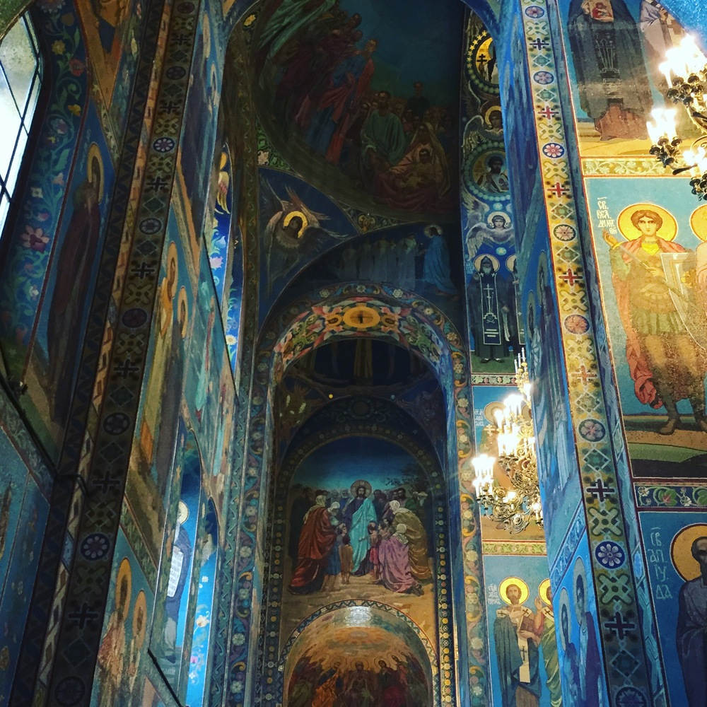 The interior of the Church of Spilled blood