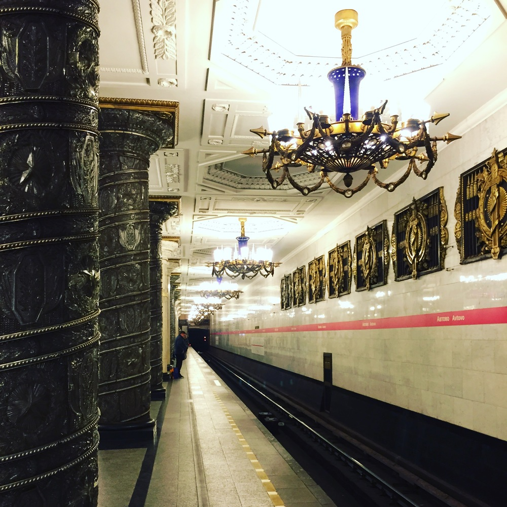 The very opulent marble under ground stations, completed in 1953