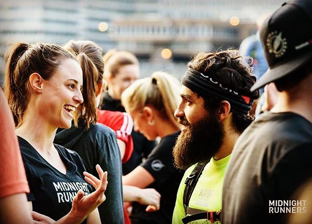 Cannot wait to head back to New York this week for the @midnightrunners launch. This awesome free running community was started just a few years ago in London by my friend @gregexploring. His army of volunteers are now expanding the tribe across the globe and New York is next! So if you're in New York on Friday night and fancy running with music blaring from backpacks that are actually speakers over 10km with 5 HITT stations, come along! Sweaty post run 📷 by @daniel.varga12