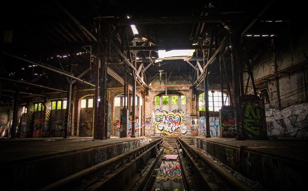 Abandoned train factory in Berlin, Germany.