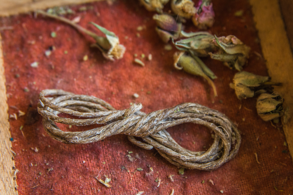 Hemp wick is a health conscious alternative to inhaling butane from lighters and chemicals from matches. Your own hemp wick comes with each blend.