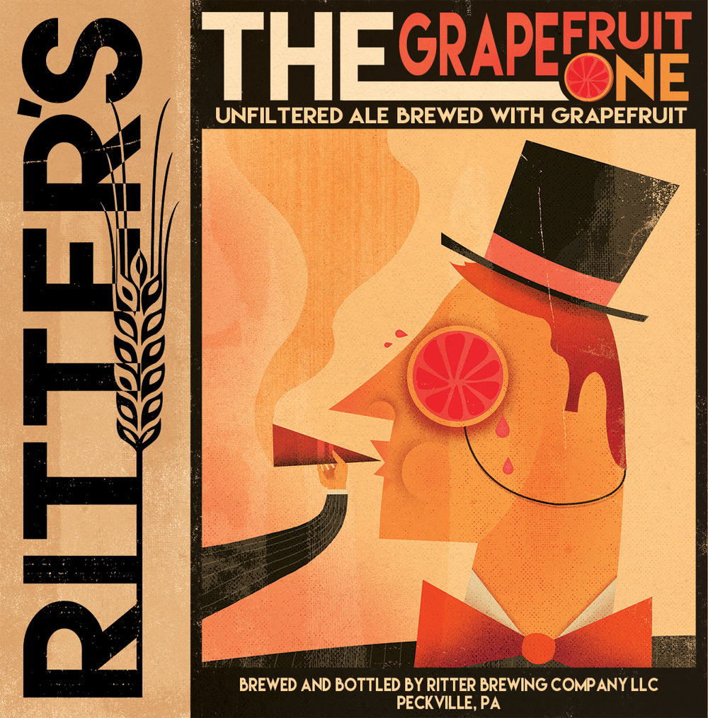 The Grapefruit One - 5.5% ABV    68 IBUs    44 SRM