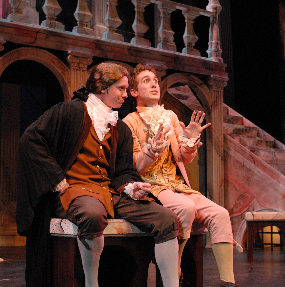 Matthew McGloin as Tranio in  The Taming of the Shrew